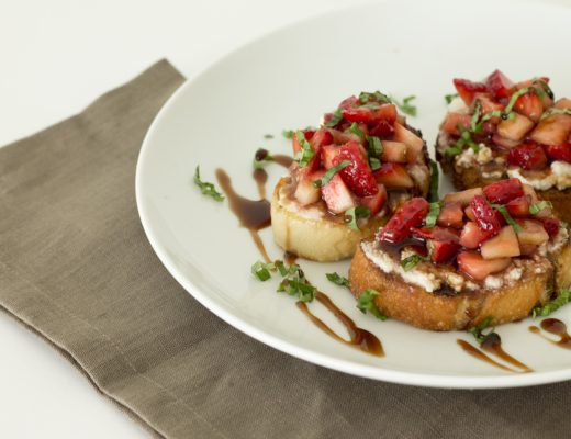 Balsamic Strawberry Crostini 6